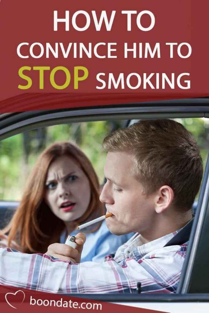 how to convince him to stop smoking